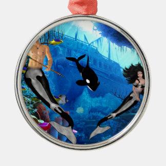Best Seller Merrow Mermaid Metal Ornament