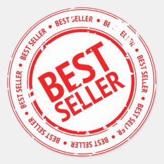 Best Seller Sign Classic Round Sticker