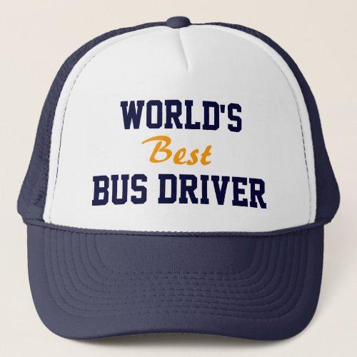 Best seller Worlds best bus driver cap
