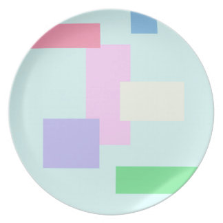BEST SELLING ABSTRACT SQUARES DINNER PLATE