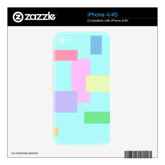 BEST SELLING ABSTRACT SQUARES iPhone 4S DECAL
