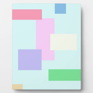 BEST SELLING ABSTRACT SQUARES PLAQUE