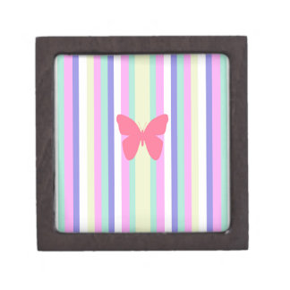 BEST-SELLING AMAZINF BUTTERFLY WITH STRIPES KEEPSAKE BOX