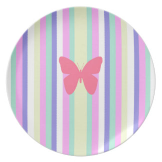 BEST-SELLING AMAZINF BUTTERFLY WITH STRIPES MELAMINE PLATE