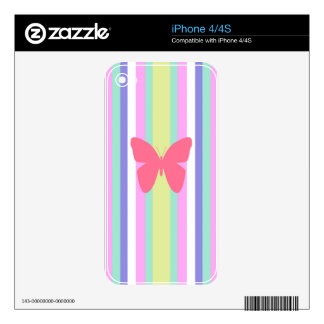 BEST-SELLING AMAZINF BUTTERFLY WITH STRIPES SKINS FOR THE iPhone 4S