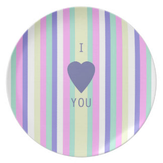 BEST-SELLING AMAZING LOVE DESIGN WITH STRIPES PLATE