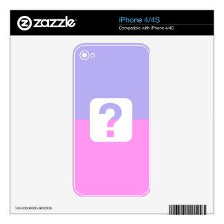 BEST-SELLING AMAZING ORIGINAL DESIGN QUESTION iPhone 4S SKINS