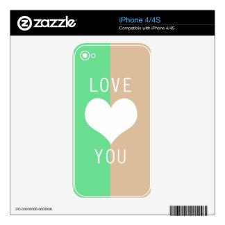 BEST-SELLING AMAZING ROMANTIC LOVE DESIGN SKIN FOR iPhone 4