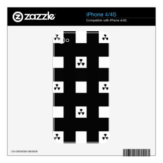 BEST-SELLING AWESOME BLACK&WHITE DESIGN iPhone 4 DECAL