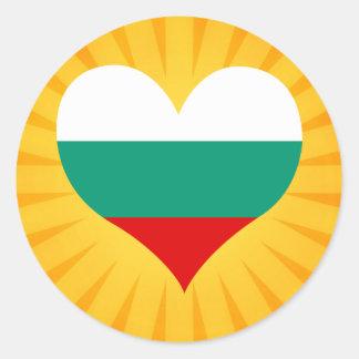Best Selling Cute Bulgaria Classic Round Sticker