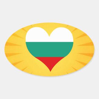 Best Selling Cute Bulgaria Oval Sticker