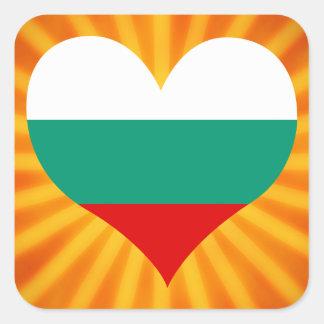 Best Selling Cute Bulgaria Square Sticker