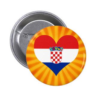 Best Selling Cute Croatia 2 Inch Round Button