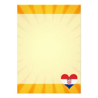 "Best Selling Cute Croatia 5"" X 7"" Invitation Card"