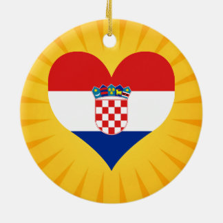 Best Selling Cute Croatia Double-Sided Ceramic Round Christmas Ornament