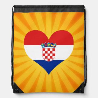 Best Selling Cute Croatia Drawstring Backpack
