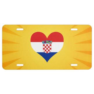 Best Selling Cute Croatia License Plate