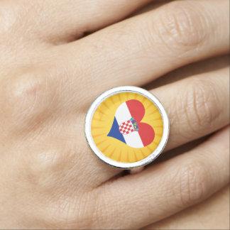 Best Selling Cute Croatia Photo Ring