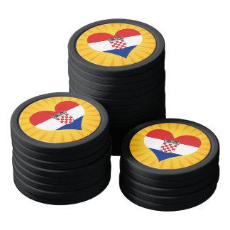 Best Selling Cute Croatia Set Of Poker Chips