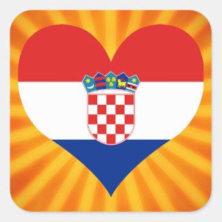 Best Selling Cute Croatia Square Sticker