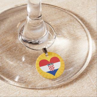 Best Selling Cute Croatia Wine Glass Charms