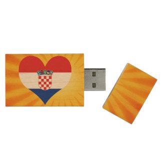 Best Selling Cute Croatia Wood USB 2.0 Flash Drive