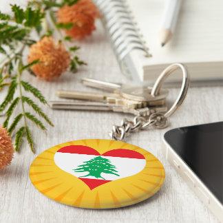 Best Selling Cute Lebanon Basic Round Button Keychain