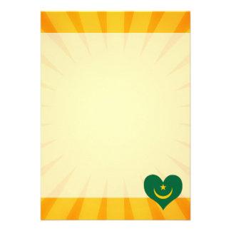 "Best Selling Cute Mauritania 5"" X 7"" Invitation Card"