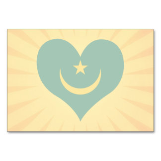 Best Selling Cute Mauritania Table Cards