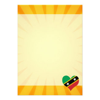 """Best Selling Cute Saint Kitts And Nevis 5"""" X 7"""" Invitation Card"""