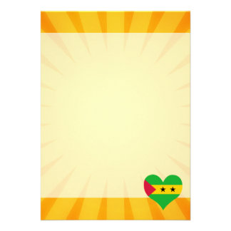 "Best Selling Cute Sao Tome And Principe 5"" X 7"" Invitation Card"