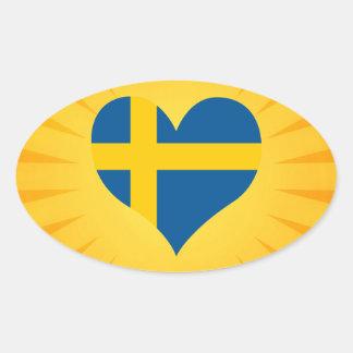 Best Selling Cute Sweden Oval Sticker