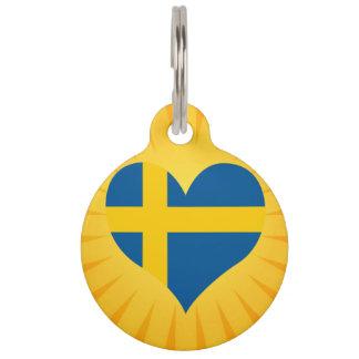 Best Selling Cute Sweden Pet Tag