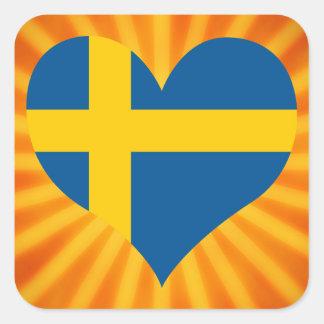 Best Selling Cute Sweden Square Sticker
