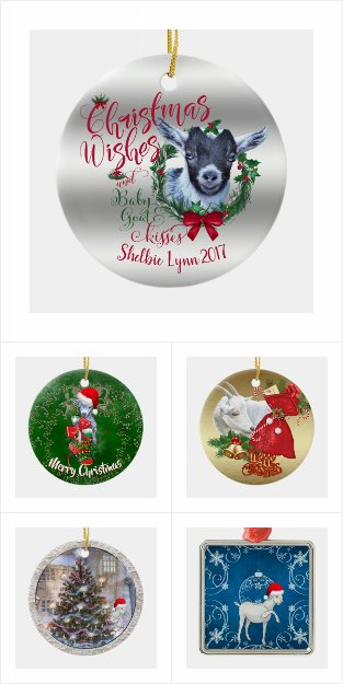 Goat Christmas Ornament.Goat Lovers Christmas Decor Totallygoatally Com