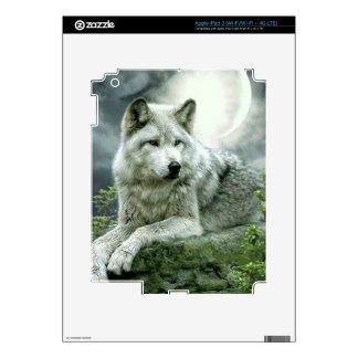 Best Selling Imaginative Wolf Art Illustration Pai iPad 3 Decals
