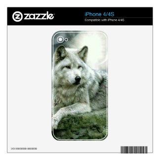 Best Selling Imaginative Wolf Art Illustration Pai iPhone 4S Skins