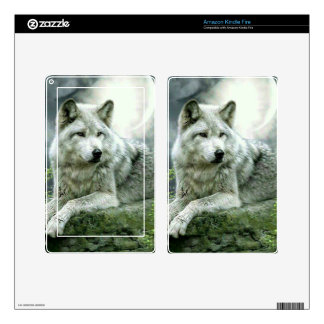 Best Selling Imaginative Wolf Art Illustration Pai Kindle Fire Decal