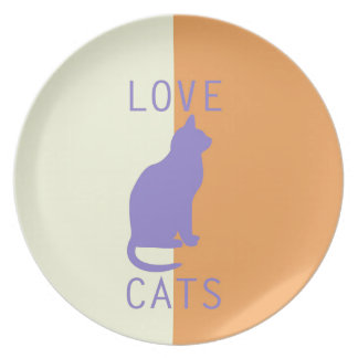 BEST-SELLING LOVE CATS ORIGINAL DESIGN DINNER PLATE