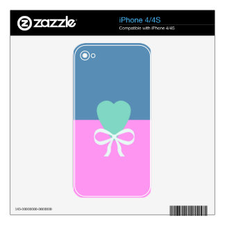 BEST-SELLING ORIGINAL DESIGN LOVE GREEN HEART DECAL FOR iPhone 4
