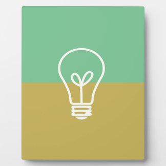 BEST-SELLING ORIGINAL LIGHT BULB DESIGN GREEN PLAQUE