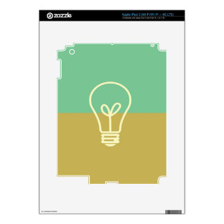 BEST-SELLING ORIGINAL LIGHT BULB DESIGN GREEN SKIN FOR iPad 3