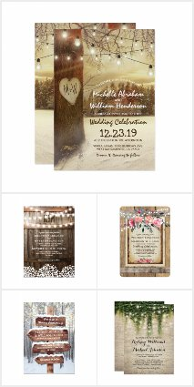 Best Selling Rustic Wedding Invitations