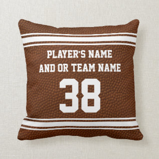Best Senior Night Football Gifts Personalized Throw Pillow at Zazzle