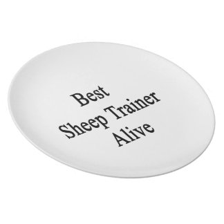 Best Sheep Trainer Alive Dinner Plate
