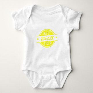 Best Sidekick Ever Yellow Baby Bodysuit