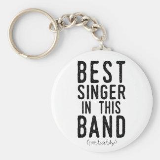 Best Singer (probably) (blk) Keychain