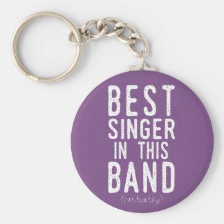 Best Singer (probably) (wht) Keychain