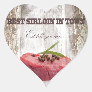 Best Sirloin In Town Heart Stickers