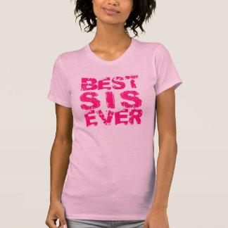 BEST SIS EVER Grunge Text T03 PINK T-Shirt